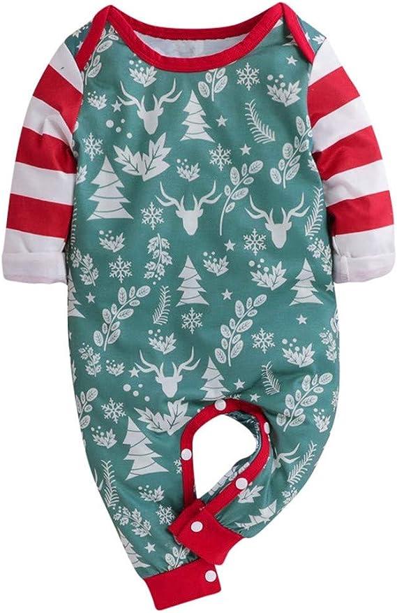 foto de LABIUO Noël Combinaison Bébé Garçons Filles Automne Hiver Pyjamas ...