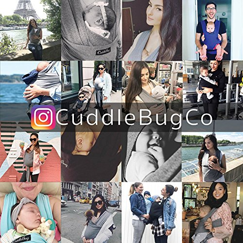 Baby Wrap Ergo Carrier Sling - by CuddleBug - Available in 8 Colors - Baby Sling, Baby Wrap Carrier, Nursing Cover - Specialized Baby Slings and Wraps for Infants and Newborn (Grey) by CuddleBug (Image #7)