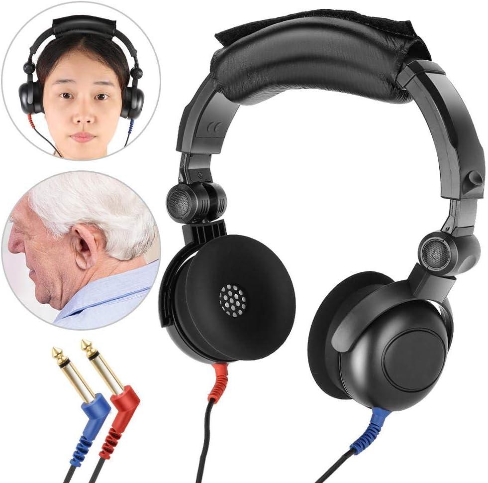 Probador de audición, audiómetro portátil Prueba de audición audiométrica Audífonos Audiómetro de aire para prueba de audición para todos los audiómetros importados