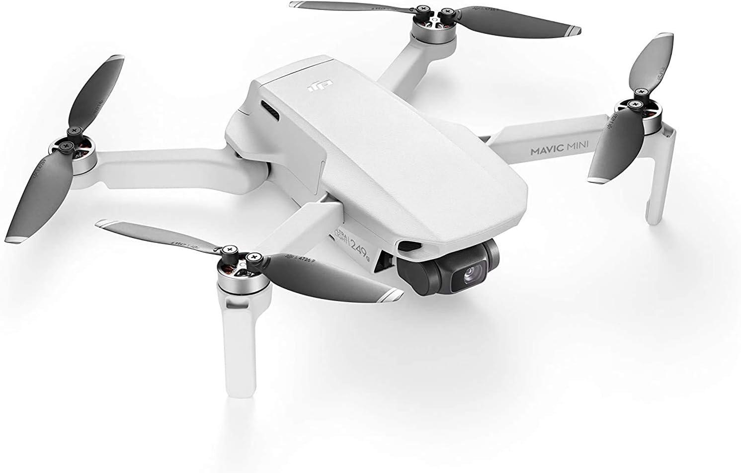DJI Mavic Mini + Care Refresh - Drone Ultraligero y Portátil, Batería 30 Minutos, Distancia Transmisión 2 Km, Ofrece Dos Unidades de Remplazo en un Año, Cubre una Gran Variedad de Accidentes
