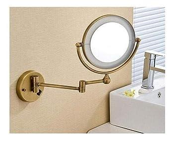 Make Up Spiegel : Goldene messing led licht make up spiegel olden brass led light