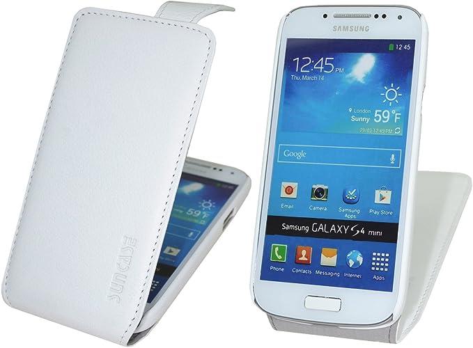 Suncase – Funda de Piel con Tapa para/Samsung Galaxy S4 Mini i9195/* * Funda Funda de Piel Case Funda Carcasa: Amazon.es: Electrónica