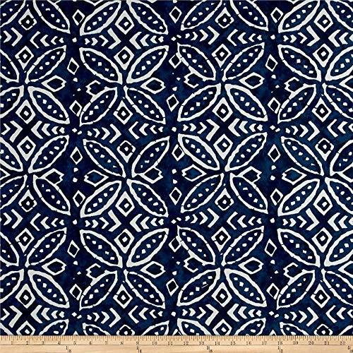 Waverly Fabrics 0564942 ED Ellen Degeneres Outdoor Merida Indigo Fabric by the Yard