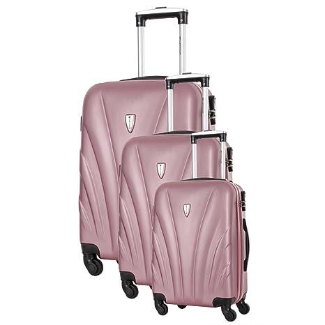 Platinium - Juego de maletas Rosa Rose S, M, L: Amazon.es ...