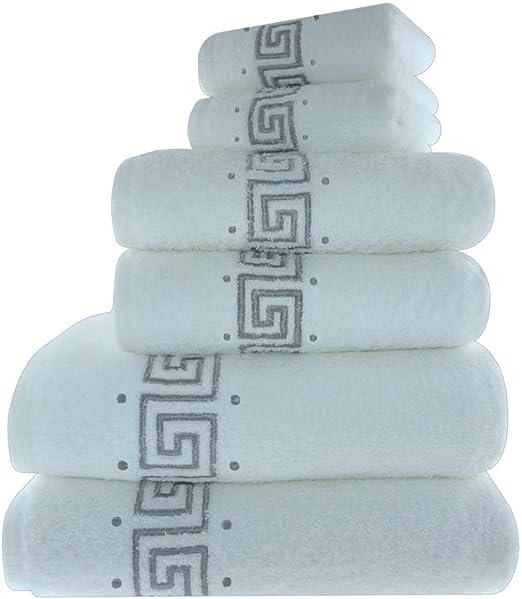 100/% Algodón Toalla Set 600 GSM Baño De Mano Grande Bale cuarto de baño de 6 Piezas De Lujo