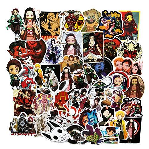 50PCS Anime Janpan Demon Slayer: Kimetsu no Yaiba Stickers Laptop Sticker Computer Bedroom Wardrobe  - http://coolthings.us