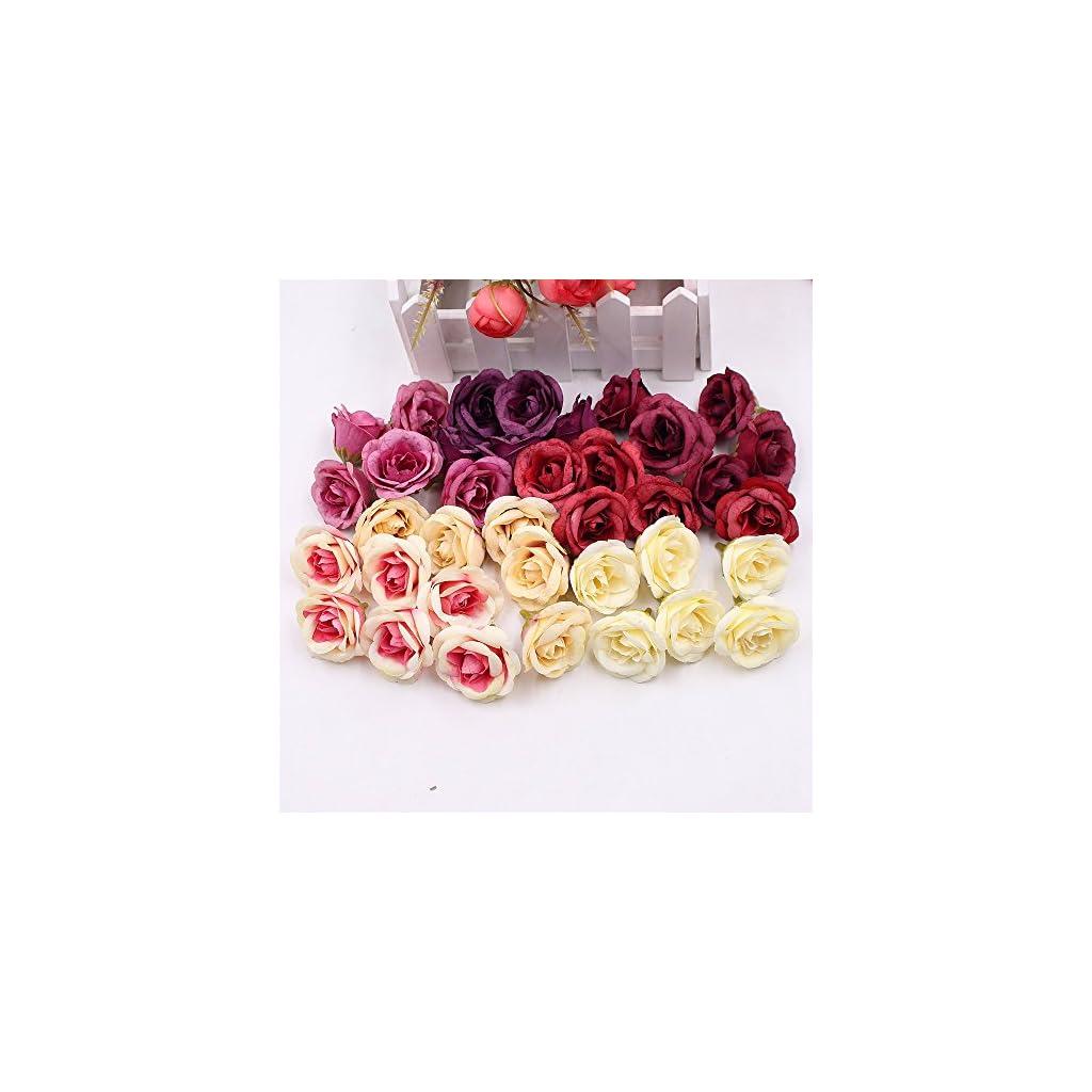 Artificial-Flower-Silk-Rose-Wedding-Home-decoration-DIY-Wreath-Fake-Flowers-30pcs-4cm