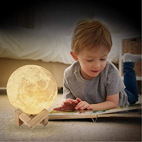 USB Rechargeable 3D Print Moon Lamp Night Light Creative Home Decor Globe  Bedroom Lover Children Gift - - Amazon.com