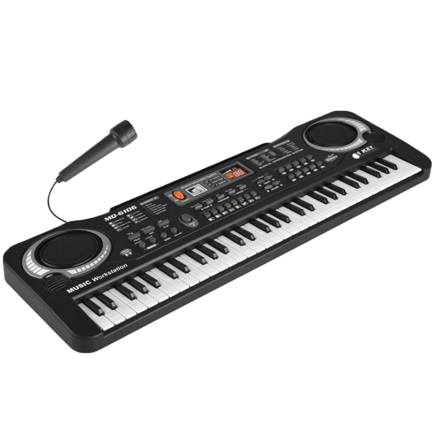 Amazon.com: Multi-function 61 Keys Kids Electronic Organ Keyboard Piano Child Musical Teaching Toy with Microphone And EU Power Cord: Musical Instruments