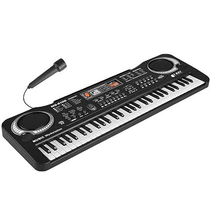 Multi-función 61 teclas niños teclado electrónico órgano piano enseñanza musical juguete con micrófono y