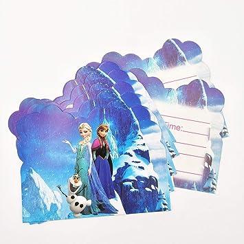 Harlica Disney Frozen Invitación Tarjeta Elsa y Anna Tema ...