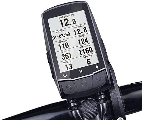 Bici de la computadora 2.6 Pulgadas GPS inalámbrico Bluetooth 4.0 para Bicicleta Ordenador cuentakilómetros del Sensor de Velocidad/cadencia + Pecho Monitor de Ritmo cardíaco Ciclo Velocímetro: Amazon.es: Deportes y aire libre