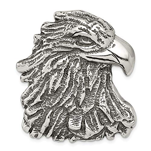 Roy Rose Jewelry Sterling Silver Antiqued Eagle Head Pendant