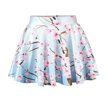 7c522eb161 Faldas Mujer Cortas Elegantes Verano Impresión Floral Cintura Alta Línea A  Minifalda Ropa Dama Moda Fashionista Casual Woman Falda Plisada Básicos  ...