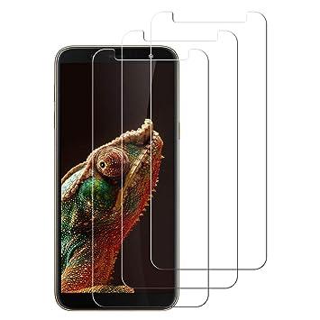 "Cristal Templado para Xiaomi Mi A2 Alta Definicion 3-Pack Vidrio Templado,Protector de Pantalla para Xiaomi Mi A2, Sin Burbujas 5.99/"" Anti-Ara/ñazos OCMCMO"