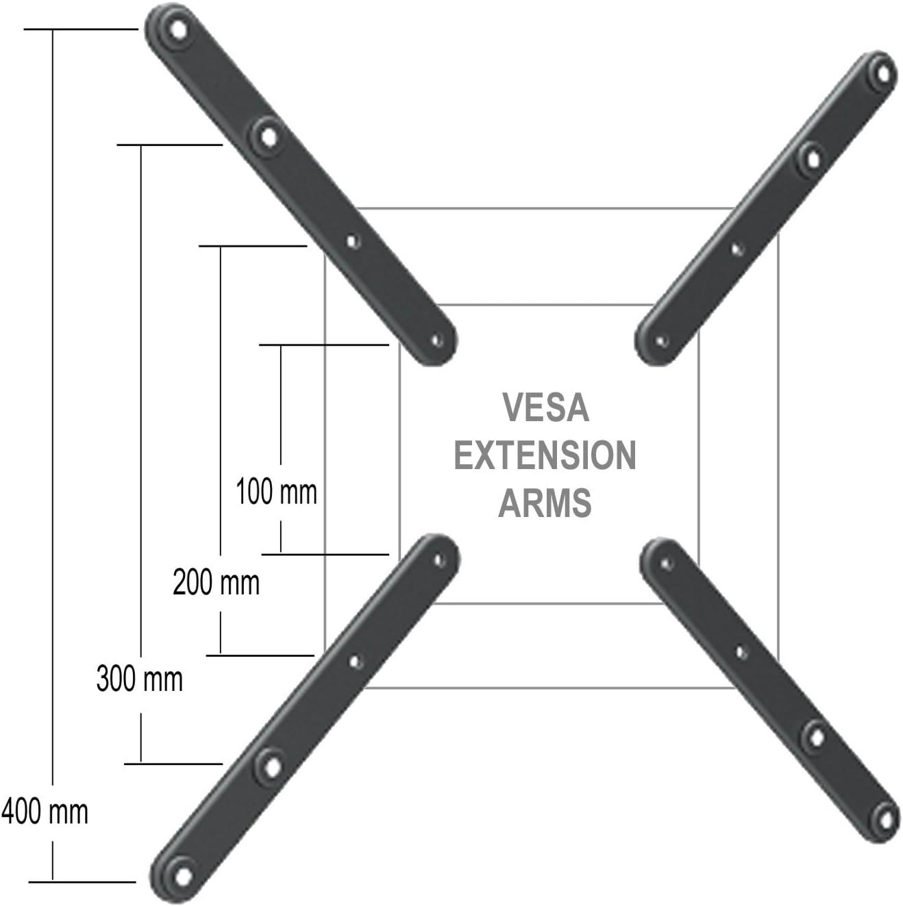 TV Mount Adapter Bracket Extension LED LCD Plasma Accessory VESA 100mm To 200mm,
