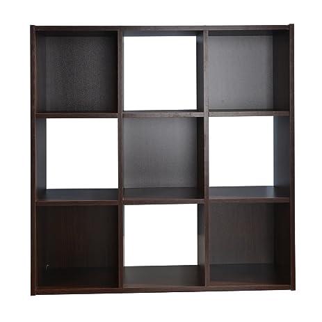 Nice Interiorca 9 Cube Storage Organizer, Walnut