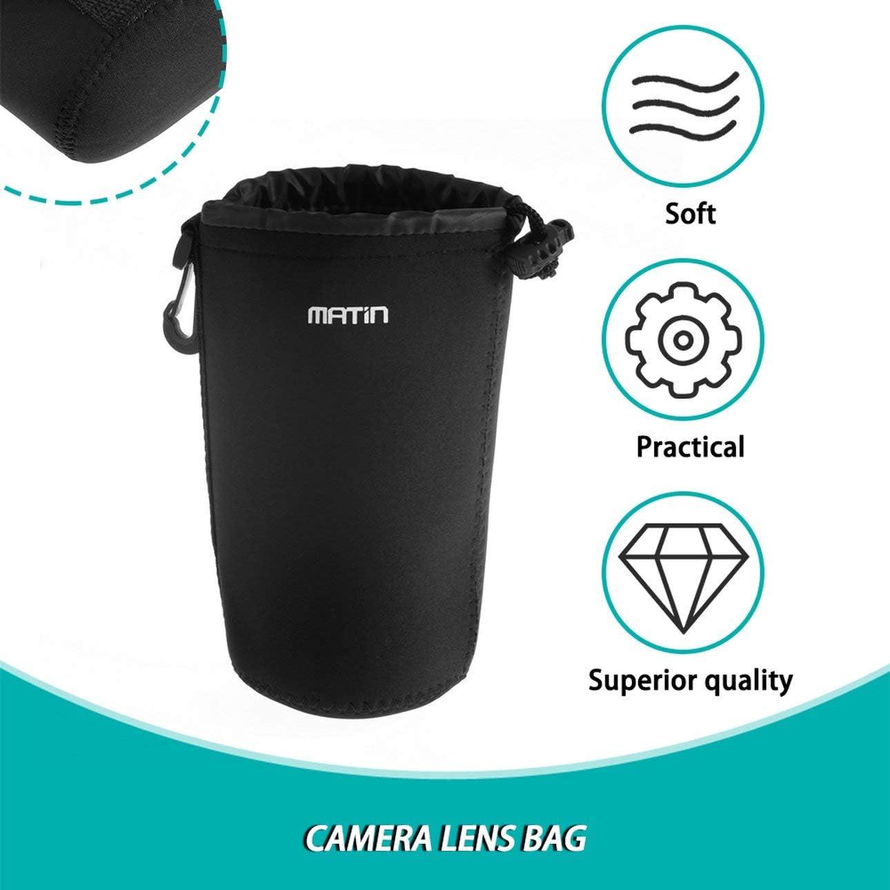 Deniseonfr Sac Souple pour Objectif de cam/éra /étui de Protection de 3 mm d/épaisseur Accessoires de lentille de cam/éra en n/éopr/ène r/ésistant /à leau