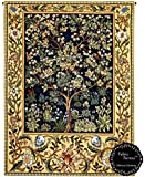 "Tree of Life By William Morris Lined Jacquard Tapestry Wallhanging 27""W x 35""L Multi"