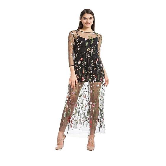 Black mesh dress women