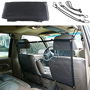 "45""x24"" Pet Safety Travel Isolation Net Car Truck Van Back Seat Dog Barrier Mesh"