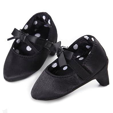 93ec453df9a Newborn Baby Girls Shoes Bowknot Soft Sole Crib Shoes (0-6 M