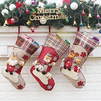 ancitac christmas stockings hanging set 17 large holiday gift bags bulk stocking kit for
