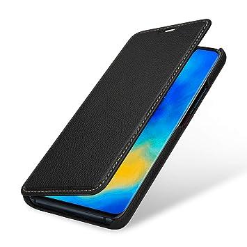 StilGut - Funda de Piel Tipo Libro para Huawei Mate 20 Pro, Negro