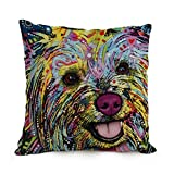 beautifulseason throw pillow case of Dog Abstract Art 18 x 18 inches / 45 by 45 cm,best fit for sofa,lounge,kids boys,birthday,valentine,boys double sides