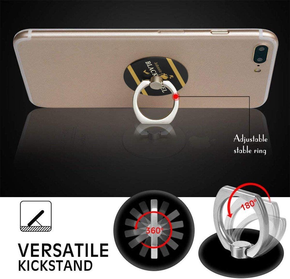 CyBlackwoodnara Johnnie Walker 360 Degree Rotating Finger Ring Stand Holder Phone Holder for Any Smartphones iPhone Or Tablets
