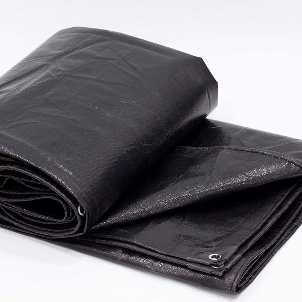 防水シート、黒の屋外断熱日焼け止めサンシェード、防雨布、プラスチック布、折りたたみが簡単(24サイズ) B07PKDG7GF  2 × 4 m 2 × 4 m