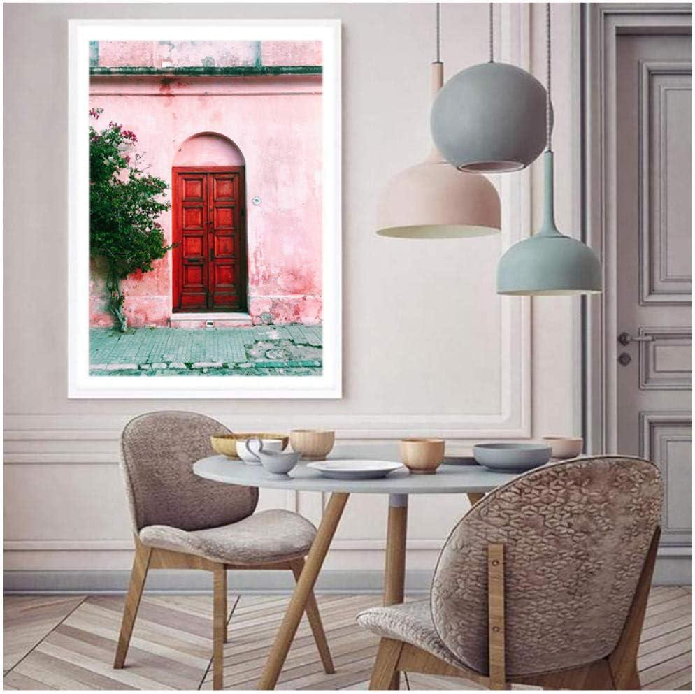 Salón Arquitectura Puerta Carteles y grabados Camino Lienzo Pintura Arte de la pared Estilo nórdico Fotos Decoración para el hogar 50 * 70 cm Sin marco: Amazon.es: Bricolaje y herramientas