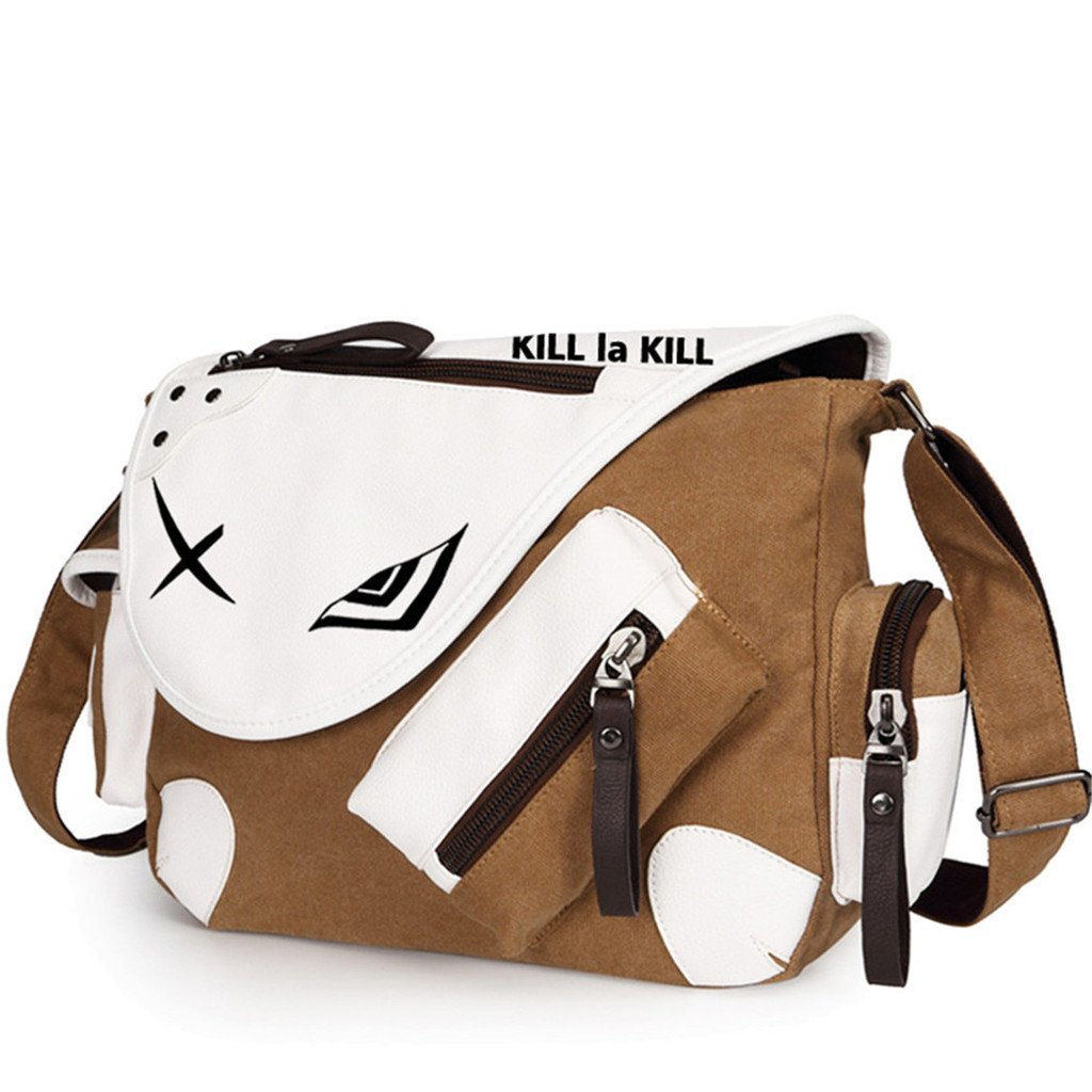 YOYOSHome Kill la Kill Anime Cosplay Handbag Backpack Messenger Bag Shoulder Bag (Brown)