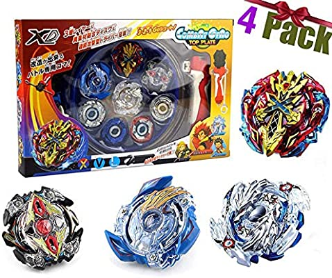 Beyblade Burst Peonzas, 4 Pcs Gyro Spinning Fusión 4D Conjuntos de ...