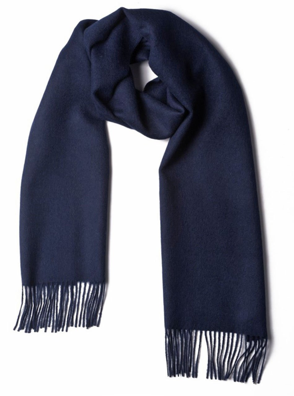Luxury 100% Pure Baby Alpaca Scarf, for Men and Women - A Great Gift Idea in Many Colors (Navy)
