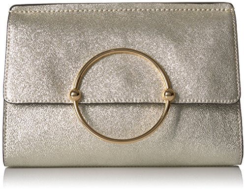 MILLY Metallic Leather Flap Clutch by MILLY
