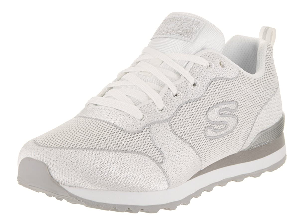 Skechers Damen Turnschuhe OG 85 Shimmer Time Weiß Silber