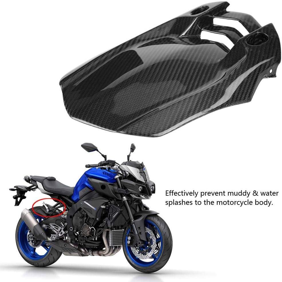 Hlyjoon Motorcycle Rear Tire Fender Mudguard Carbon Fiber Black Mount Wheel Tire Mud Flap Dashboard Splash Guard for MT-10 FZ-10 2016 2017 2018