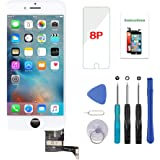 YOXINTA Screen Replacement for iPhone 8 Plus White 5.5 inch 3D Touch LCD Screen Digitizer Replacement Frame Display Assembly