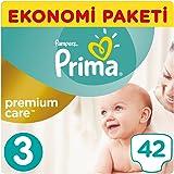 Prima Bebek Bezi Premium Care 3 Beden Midi Ekonomi Paketi, 42 Adet