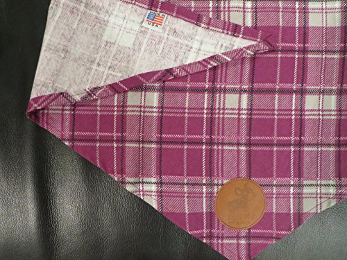Hand Made in the USA Cat, Pet, or Dog Bandana in Purple Plaid