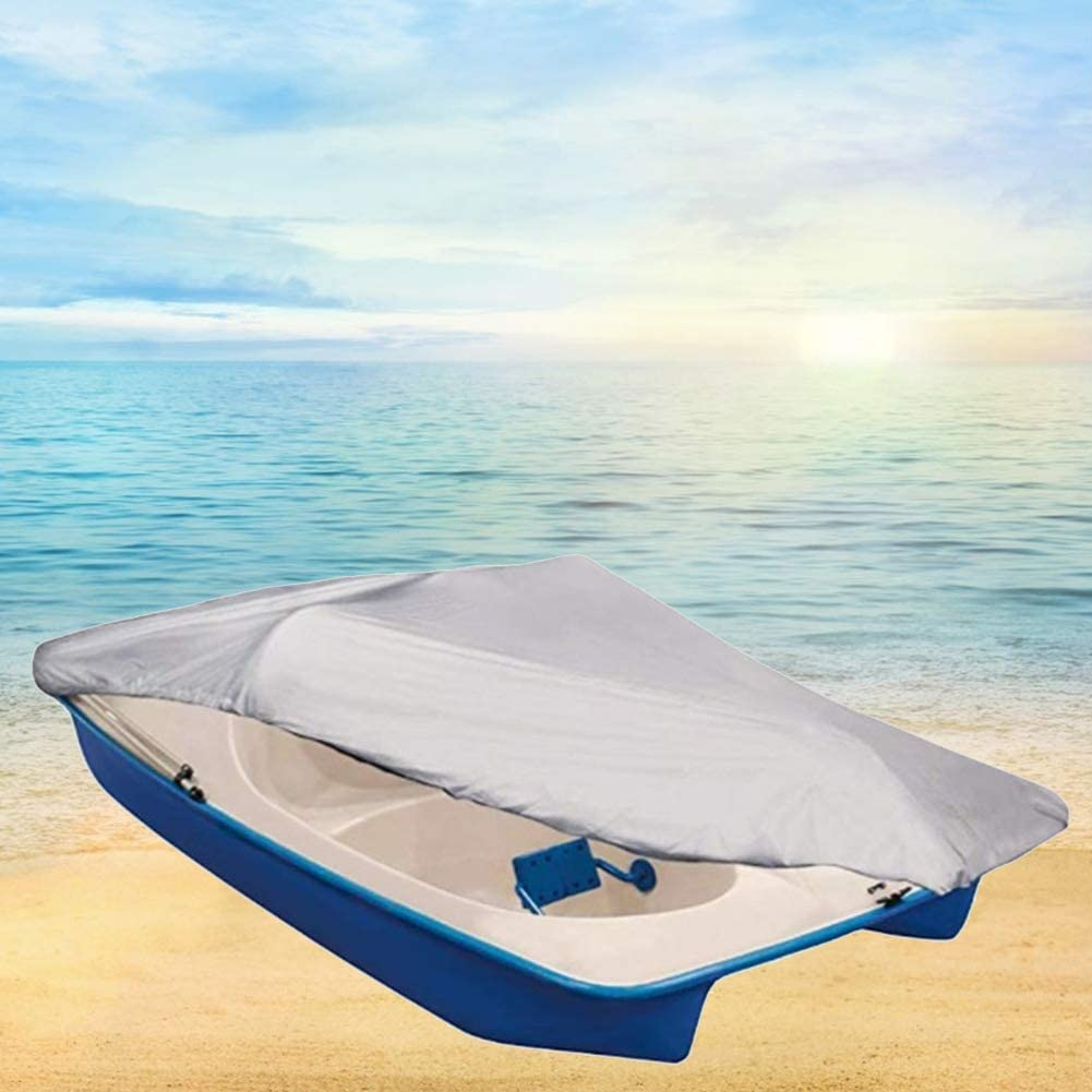 Water Proof Heavy Duty 210D Oxford Fabric Outdoor Water Resistant fit 3 or 5 Person Pedal Boat with Elastic Cord Pedal Boat Cover 286x122cm