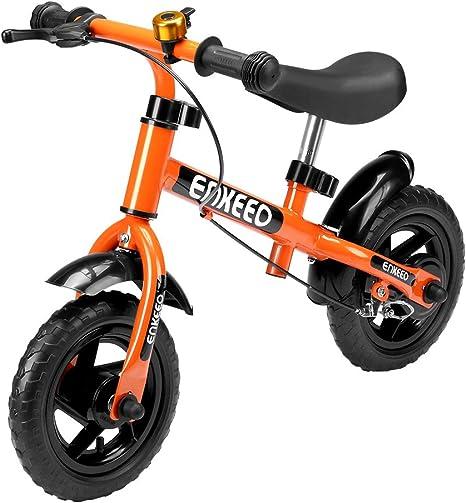ENKEEO Bicicleta sin Pedales Equilibrio para Niños Infantiles con ...