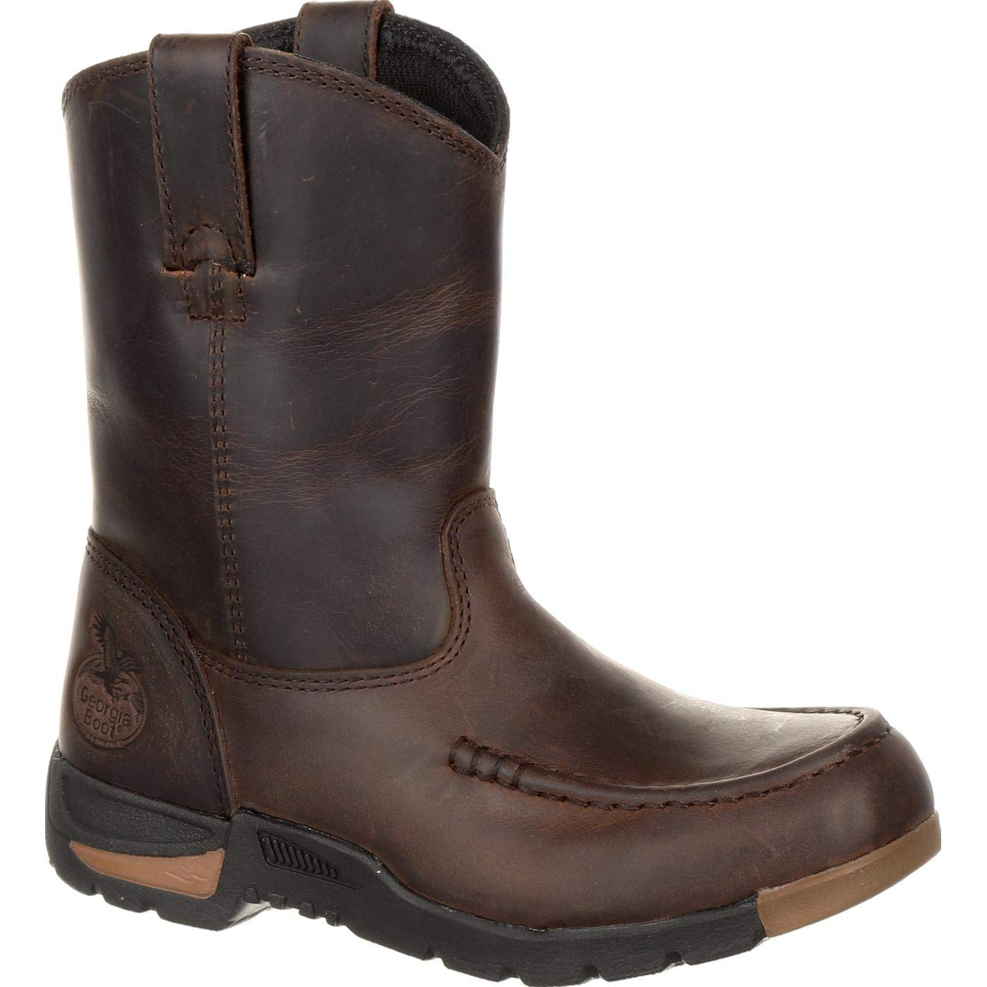 Georgia GB00232Y Youth Athens Big Pull-On Boot, Brown - 7 D(M) US