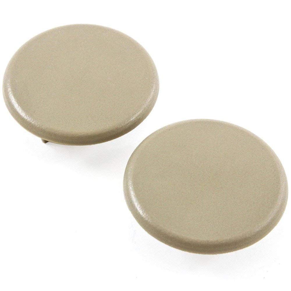 GHXSport 2pcs Beige Color Replacement Armrest Cap Cover for Chevy Tahoe Suburban GMC Yukon 2007-2017 Replaces 15279689 Left or Right Rear Bucket Seats Arm Rest Handle Trim Bolt Vehicle Accessories