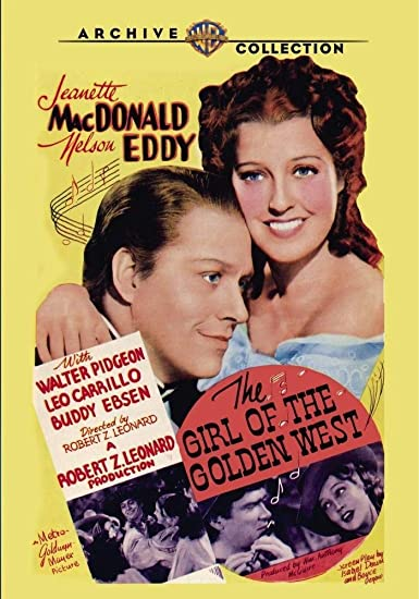 The girl of the golden west Jeanette MacDonald poster