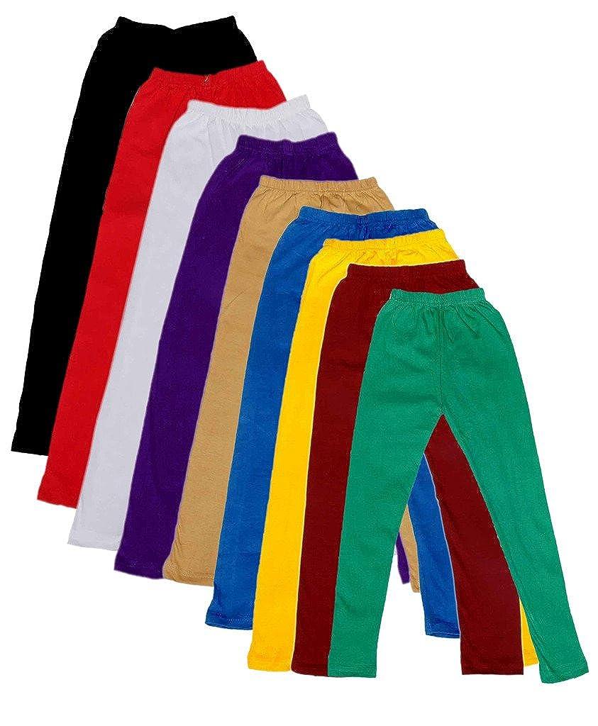 Indistar Kids Solid Leggings Pants Pack of 9 7140504030201070006-IW-32/_Multicolor/_9-10 Years