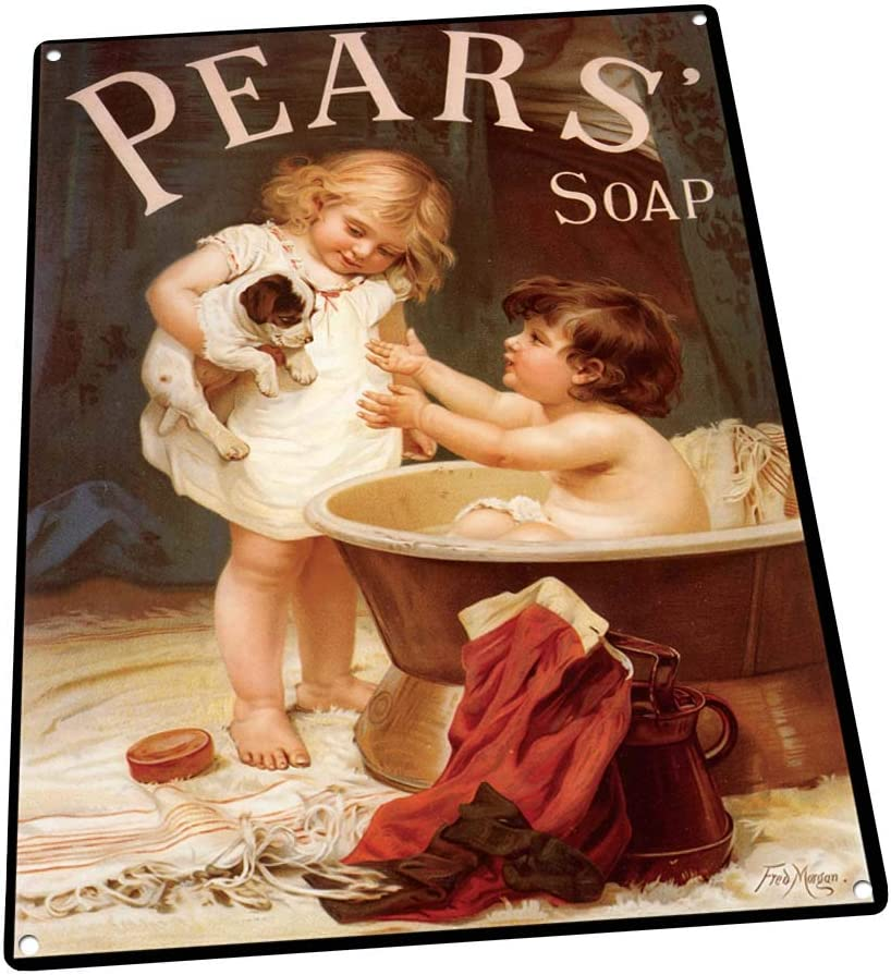 Pears Soap Metal Sign: Soap, Laundry, and Bathroom Decor Wall Accent