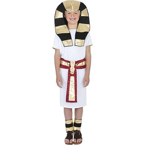 Vestito sovrano dell antico Egitto travestimento ragazzo faraone egiziano -  M 140 cm ec29805487d