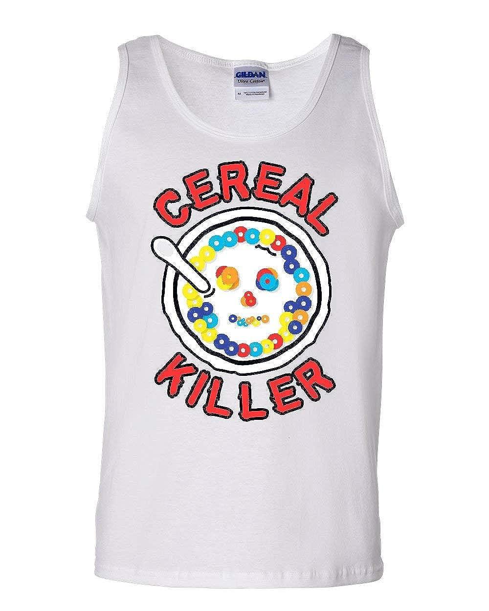 Cereal Killer Tank Top Funny Breakfast Morning Meal Serial Killer Sleeveless